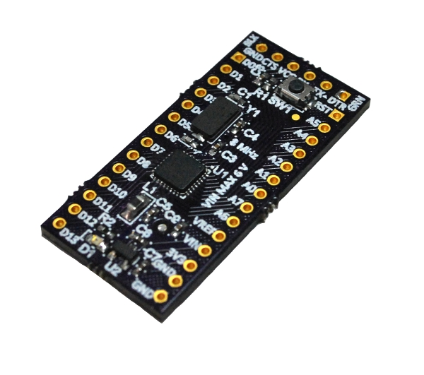 Mini ultra mhz low power arduino compatible board