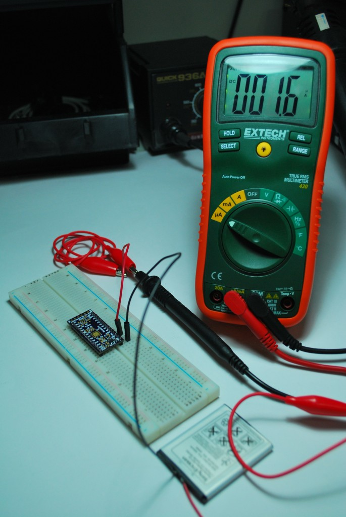MCP1700 Quiescent Current Measurement