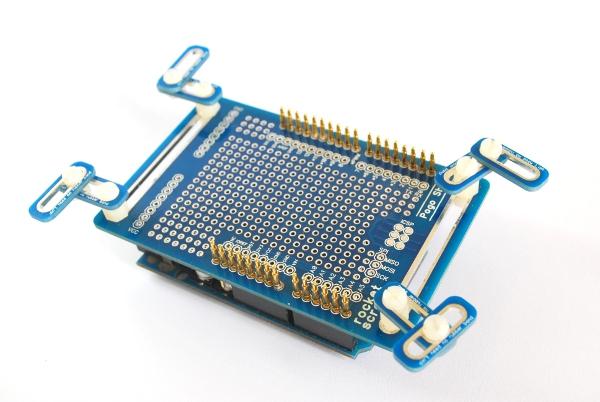 Pogo pin test jig for arduino shield rocket scream