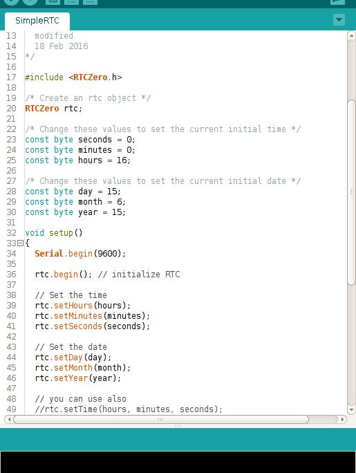 Simple RTC Example